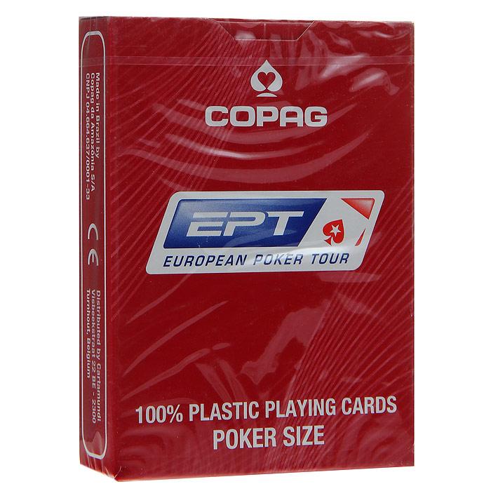 Карты игральные Copag Европейский Покерный Тур, цвет: красный, 54 карты. 107885124a107885124aИгральные карты Европейский Покерный Тур с рубашкой красного цвета подходят для игры в покер. Крупный индекс в двух углах. Карты имеют очень гладкую поверхность, высококачественный пластик и стандартный размер poker.