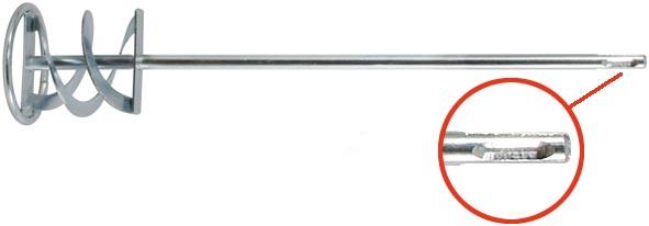 Миксер для строительных смесей Профи FIT, оцинкованный, хвостовик SDS-PLUS, 60 х 10 см04260Насадка на перфоратор для перемешивания краски, строительных смесей. Хвостовик SDS PLUS.