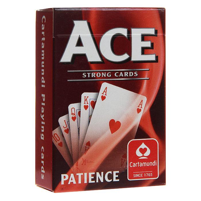 Карты для пасьянса Cartamundi Тузы - Пасьянс, цвет: красный, 54 карты. 107401424a107401424aКарты игральные Тузы - Пасьянс с рубашкой красного цвета подходят для пасьянса. Карты с пластиковым покрытием имеют стандартный индекс, классические лица и пасьянсный размер.