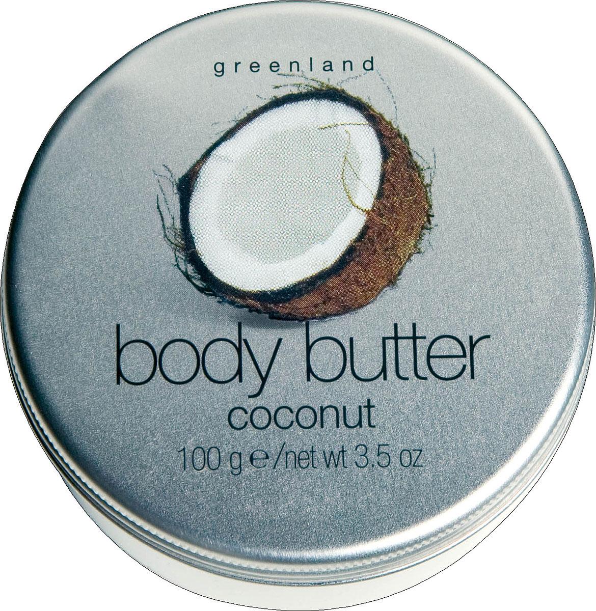 Greenland Крем для тела Balm & Butter, с кокосом, 100 мл0986-BB23Крем для тела глубоко увлажняет и питает кожу, делая ее более эластичной. Ощущение солнца, тепла и отдыха на райских островах подарит Вам аромат сладкого кокоса! Способ применения: Наносите на тело легкими массажными движениями.