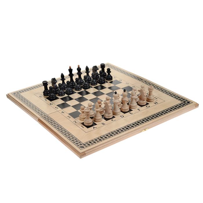 Игровой набор 3в1 Игровые: нарды, шахматы, шашки большие, размер: 60х30х4,2 см. 72047204Нарды Игровые упакованы в деревянный кейс. Кейс закрывается на металлический замок. Внутренняя часть кейса представляет собой игровое поле. В наборе - 2 игральных кубика, деревянные шашки и шахматные фигуры. На внешней стороне кейса изображено игровое поле для игры в шашки или шахматы. Цель игры состоит в том, чтобы сначала привести шашки в свой дом (мешая в тоже время сделать это сопернику), а затем, когда это удалось сделать, снять их с доски быстрее соперника. Побеждает тот, кто первым снял свои шашки, но победы в нардах имеют разную цену. Нарды - древняя восточная игра. Родина этой игры неизвестна, однако известно, что люди играют в эту игру уже более 7000 лет. На игровой доске для нард все кратно шести и имеет связь со временем. 24 пункта представляют 24 часа, 30 шашек представляют 30 дней в месяце, 12 пунктов на каждой стороне доски символизируют 12 месяцев. Нарды могут стать отличным подарком каждому, независимо от ситуации и возраста.