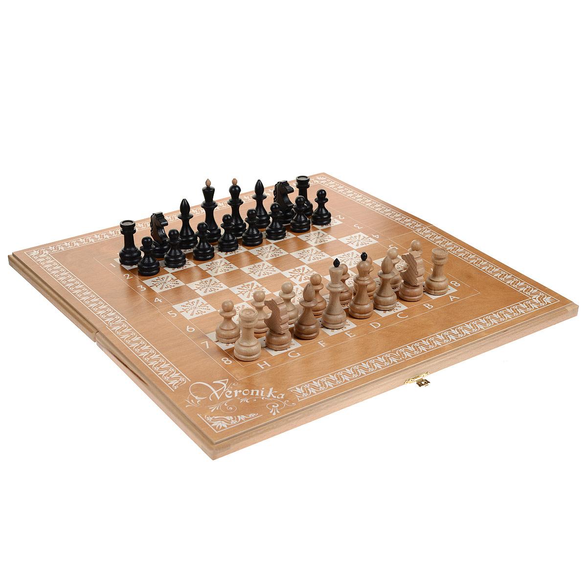 Игровой набор 3в1 Чудесные: нарды, шахматы, шашки, размер: 60х30х4,2 см. 72037203Игровой набор 3в1 Чудесный упакован в деревянный кейс и включает в себя шахматы, шашки и нарды. Кейс закрывается на металлический замок. Внутренняя и внешняя стороны кейса представляют собой игровые поля. В наборе - 2 игральных кубика, деревянные шашки и шахматные фигуры. Шахматы, шашки и нарды - это увлекательные игры, которые помогут развить логическое мышление и позволят вам интересно и с пользой провести время. Кроме того, такой набор можно взять с собой в дорогу.