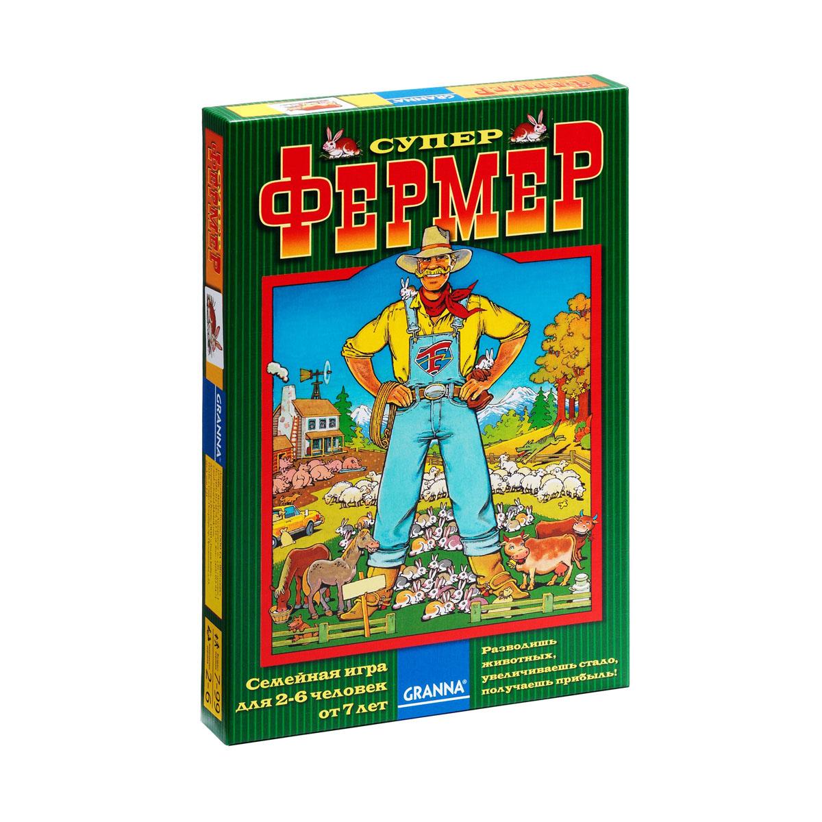 Настольная игра Bondibon Супер ФермерВВ1009Настольная игра Bondibon Супер Фермер с элементами пошаговой стратегии понравится и ребенку, и взрослому и позволит весело провести время в компании друзей. Каждый игрок становится расчетливым фермером, цель которого - собрать стадо из кролика, овцы, свиньи, коровы и коня. Но, как и в реальном фермерстве, где-то неподалеку вынюхивают свою добычу волк и лисица, которые очень хотят утащить кого-нибудь из стада. Для этой игры впервые был придуман кубик с 12 гранями, на которых обозначены типы ходов - это может быть как прирост стада за счет определенных животных, так и нападение хищников. Твоя прибыль растет за счет увеличения поголовья в стаде, а также за счет обмена с противниками разными животными. Победителем, или Супер Фермером станет тот, кто первым соберет полное стадо из всех видов животных. Настольная игра Bondibon Супер Фермер - замечательная экономическая стратегия, которая учит считать, намечать и планировать события в будущем, оценивать риск. Все эти навыки...