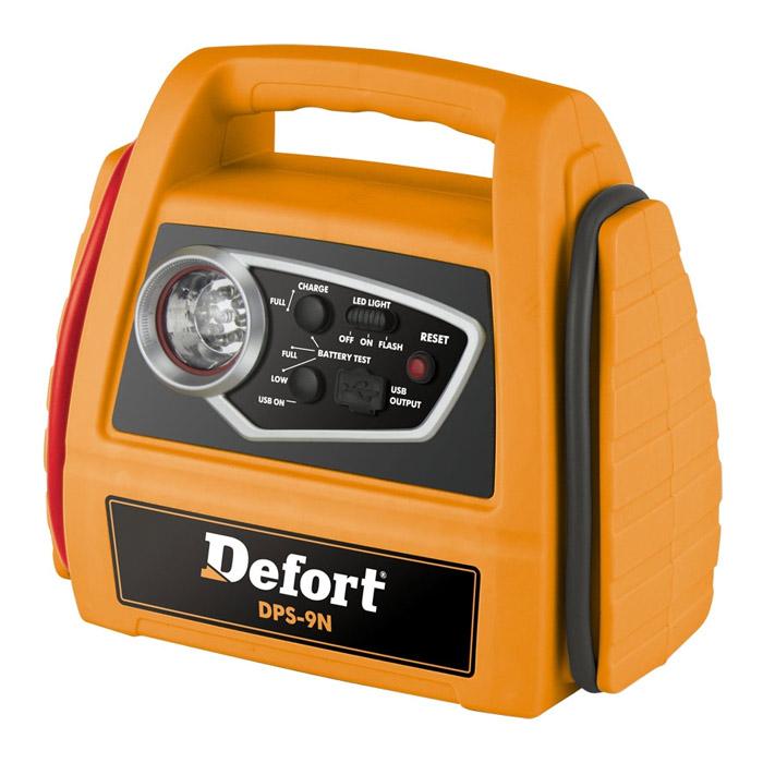 Станция энергетическая автомобильная Defort DPS-9N98293937Энергетическая автомобильная станция Defort DPS-9N предназначена для использования в качестве переносного источника питания, а также для запуска холодного автомобильного двигателя при частично разряженном штатном аккумуляторе. Станция оснащена USB портом для зарядки внешних устройств, индикатором зарядки и фонариком. Назначение зарядного устройства: пусковое. Напряжение аккумулятора: 12В. Мощность: 0,36 Вт. Емкость заряжаемого аккумулятора: 7 Aч. Максимально допустимая сила тока: 10 А. Пусковой ток: 120 А (не более 5 сек). Время зарядки: 15-25 ч.