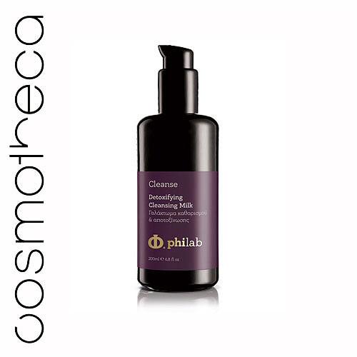 Philab Молочко-детокс для лица, очищающее, 200 млPHL1101Очищенная гиалуроновая кислота с низким молекулярным весом создает защитный барьер на поверхности эпидермиса, обеспечивая глубокое увлажнение кожи. Экстракт виноградных косточек, экстракт граната, витамин Е, оливковое масло снимают стресс кожи, вызванный окислительными процессами. Масло ши, масло жожоба, масло авокадо питают, увлажняют и поддерживают кожный баланс.