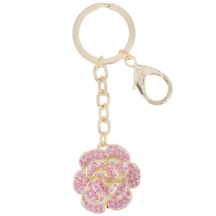 Брелок-флэш-карта Роза, цвет: золотистый, розовый, 2 Gb. 6419764197Брелок-флэш-карта Роза изготовлен из металла золотистого цвета. Брелок выполнен в виде розочки и украшен розовыми стразами. Изделие оснащено кольцом для ключей и карабином. Брелок также имеет выдвижную флэш-карту. Изящный брелок-флэш-карта порадует вас необычным дизайном и функциональностью, а также станет приятным подарком к любому празднику. Характеристики: Материал: металл (сплав олова), стекло. Общая высота брелока (с кольцом для ключей): 14,5 см. Размер декоративной части брелока (ДхШхВ): 4 см х 3,5 см х 1,5 см. Цвет: золотистый, розовый. Объем памяти флэш-карты: 2 Gb. Размер упаковки: 6 см х 15 см х 3 см. Артикул: 64197.