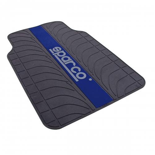 """Ковры автомобильные Sparco """"Racing"""", ПВХ, морозоустойчивые, цвет: черный, синий, 4 предмета SPC/RCN-504 BK/BL"""