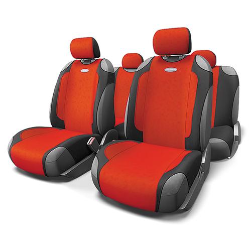 Чехлы-майки Autoprofi Generation, велюр, цвет: черный, красный, 9 предметов. GEN-805T BK/RDGEN-805T BK/RDАвтомобильные чехлы-майки Autoprofi Generation, выполненные из велюра, могут использоваться с сиденьями всех типов. Форма чехлов позволяет быстро и без затруднений надевать их на кресла, не снимая подголовники и подлокотники. Спокойный дизайн и приятные тона маек передают водителю и пассажирам ощущения домашнего уюта и тепла. Ворсистый велюр чехлов, триплированный поролоном, делает их на ощупь мягкими и бархатистыми. Материал не выцветает на солнце, не электризуется и обладает высокими грязеотталкивающими свойствами. Комплектация: - 1 сиденье заднего ряда, - 1 спинка заднего ряда, - 2 чехла переднего ряда, - 5 подголовников, - набор фиксирующих крючков. Особенности: Использование с любыми типами сидений Поролон - 5 мм