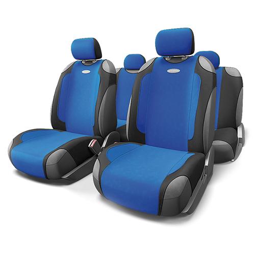 Чехлы-майки Autoprofi Generation, велюр, цвет: черный, синий, 9 предметов. GEN-805T BK/BLGEN-805T BK/BLАвтомобильные чехлы-майки Autoprofi Generation, выполненные из велюра, могут использоваться с сиденьями всех типов. Форма чехлов позволяет быстро и без затруднений надевать их на кресла, не снимая подголовники и подлокотники. Спокойный дизайн и приятные тона маек передают водителю и пассажирам ощущения домашнего уюта и тепла. Ворсистый велюр чехлов, триплированный поролоном, делает их на ощупь мягкими и бархатистыми. Материал не выцветает на солнце, не электризуется и обладает высокими грязеотталкивающими свойствами. Комплектация: - 1 сиденье заднего ряда, - 1 спинка заднего ряда, - 2 чехла переднего ряда, - 5 подголовников, - набор фиксирующих крючков. Особенности: Использование с любыми типами сидений Поролон - 5 мм