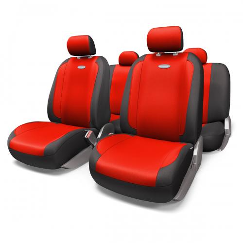 Набор авточехлов Autoprofi Generation, велюр, цвет: черный, красный, 11 предметов. Размер MGEN-1105 BK/RD (M)Плавные очертания, спокойный дизайн и приятные тона чехлов Generation передают водителю и пассажирам ощущения домашнего уюта и тепла. Удобство чехлам добавляют два объемных кармана, расположенных в спинках передних сидений. Ворсистый велюр чехлов, триплированный поролоном, делает их на ощупь мягкими и бархатистыми. Материал не выцветает на солнце, не электризуется и обладает высокими грязеотталкивающими свойствами. Основные особенности авточехлов Generation: - 3 молнии в спинке заднего ряда; - карманы в спинках передних сидений; - толщина поролона: 5 мм. Комплектация: - 1 сиденье заднего ряда; - 1 спинка заднего ряда; - 2 сиденья переднего ряда; - 2 спинки переднего ряда; - 5 подголовников; - набор фиксирующих крючков.
