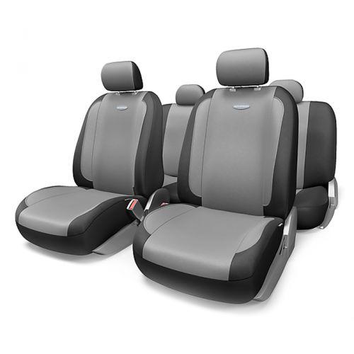Набор авточехлов Autoprofi Generation, велюр, цвет: черный, темно-серый, 11 предметов. Размер MGEN-1105 BK/D.GY (M)Плавные очертания, спокойный дизайн и приятные тона чехлов Generation передают водителю и пассажирам ощущения домашнего уюта и тепла. Удобство чехлам добавляют два объемных кармана, расположенных в спинках передних сидений. Ворсистый велюр чехлов, триплированный поролоном, делает их на ощупь мягкими и бархатистыми. Материал не выцветает на солнце, не электризуется и обладает высокими грязеотталкивающими свойствами. Основные особенности авточехлов Generation: - 3 молнии в спинке заднего ряда; - карманы в спинках передних сидений; - толщина поролона: 5 мм. Комплектация: - 1 сиденье заднего ряда; - 1 спинка заднего ряда; - 2 сиденья переднего ряда; - 2 спинки переднего ряда; - 5 подголовников; - набор фиксирующих крючков.