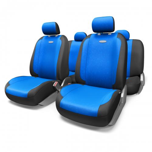 Набор авточехлов Autoprofi Generation, велюр, цвет: черный, синий, 11 предметов. Размер MGEN-1105 BK/BL (M)Плавные очертания, спокойный дизайн и приятные тона чехлов Generation передают водителю и пассажирам ощущения домашнего уюта и тепла. Удобство чехлам добавляют два объемных кармана, расположенных в спинках передних сидений. Ворсистый велюр чехлов, триплированный поролоном, делает их на ощупь мягкими и бархатистыми. Материал не выцветает на солнце, не электризуется и обладает высокими грязеотталкивающими свойствами. Основные особенности авточехлов Generation: - 3 молнии в спинке заднего ряда; - карманы в спинках передних сидений; - толщина поролона: 5 мм. Комплектация: - 1 сиденье заднего ряда; - 1 спинка заднего ряда; - 2 сиденья переднего ряда; - 2 спинки переднего ряда; - 5 подголовников; - набор фиксирующих крючков.