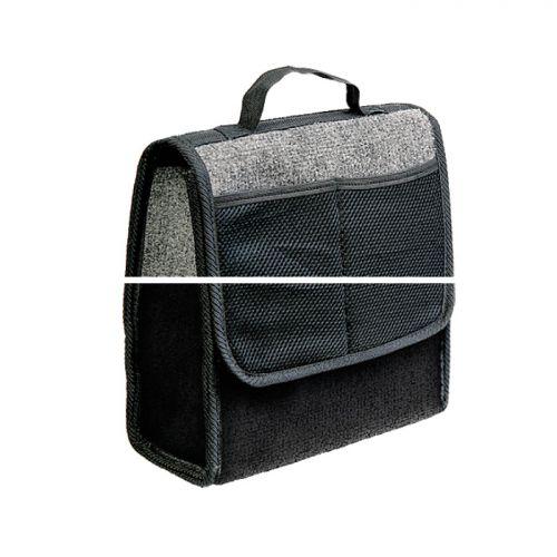 Сумка-органайзер в багажник Autoprofi Travel, ковролиновая, цвет: серый. ORG-10 GYORG-10 GYСумка-органайзер в багажник Autoprofi Travel - это удобная и практичная вещь для перевозки и хранения в багажнике автомобиля инструментов, автохимии, аксессуаров и прочих предметов. Сумка изготовлена из износостойкого ковролина, гармонично сочетающегося с оформлением интерьера автомобиля. Органайзер позволяет рационально использовать место в багажном отделении, сохраняя его в чистоте и порядке. С передней стороны содержится 2 кармана. Полосы-липучки, расположенные на тыльной стороне и днище органайзера, не дают ему скользить по поверхности и надежно фиксируют его в багажнике. Для удобства переноски органайзер оснащен ручкой.