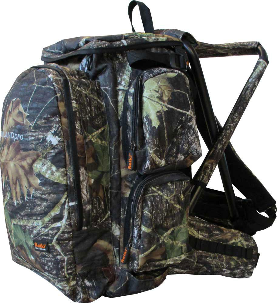 Рюкзак Retki Finland Pro на стульчике, цвет: камуфляжный, объем 40 л