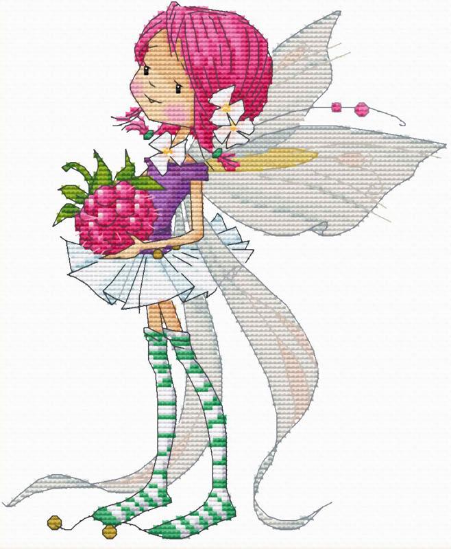 Набор для вышивания крестом Феечка с малинкой, 24 х 27 см903-14 Феечка с малинкойВ наборе для вышивания крестом Феечка с малинкой есть все необходимое для создания собственного чуда: обработанная канва Аида 14 белого цвета, хлопковые мулине, 2 иголки, цветная символьная схема и инструкция по вышиванию. Красивый и стильный рисунок-вышивка, выполненный на канве, выглядит оригинально и всегда модно. Канва в наборах обработана крахмальным средством и полужесткая, что позволяет вышивать как с пяльцами, так и без них. Нитки, применяемые в наборах, изготавливаются из хлопка, гладкие, ровные, имеют стойкую окраску. Работа, сделанная своими руками, создаст особый уют и атмосферу в доме, и долгие годы будет радовать вас и ваших близких. Работа, которая отвлечет вас от повседневных забот, и превратится в увлекательное занятие!