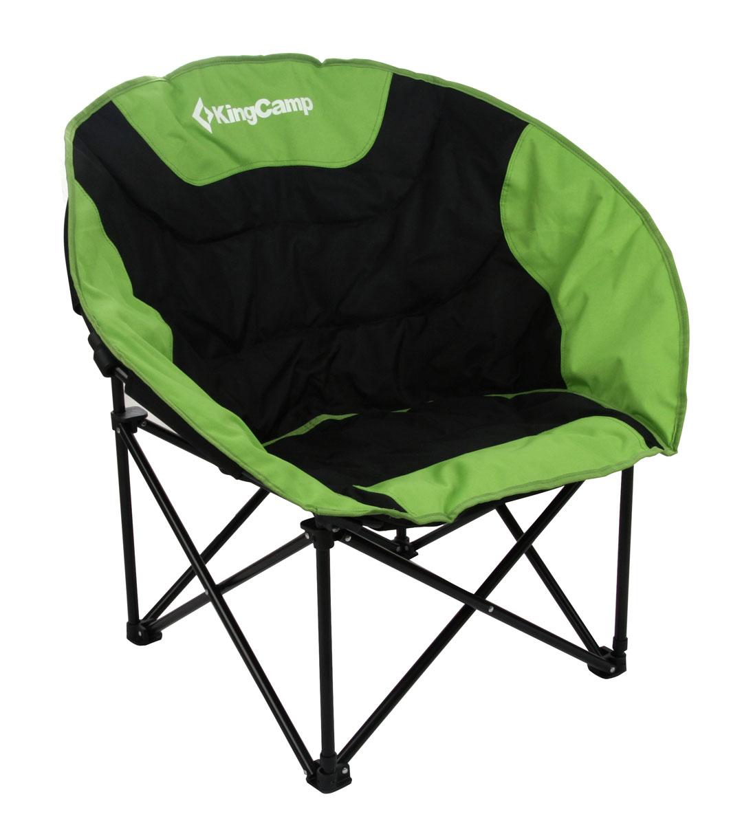 Кресло складное KingCamp Moon Leisure Chair, цвет: зеленыйУТ-000049531Складное круглое кресло KingCamp Луна с широким сиденьем - незаменимый предмет в походе, на природе, на рыбалке, а также на даче. Кресло имеет прочный металлический каркас и покрытие из уплотненного мягкого текстиля, оно легко собирается и разбирается и не занимает много места, поэтому подходит для транспортировки и хранения дома. Для большего удобства к креслу прилагается чехол для хранения с удобной ручкой. Характеристики: Размер в разложенном виде: 84 см х 70 см х 80 см. Высота спинки сиденья: 38 см. Размер в сложенном виде: 90 см х 30 см х 15 см. Материал: полиэстер 600D Oxford с покрытием ПВХ, нержавеющая сталь. Наполнитель: пена PVC. Вес: 4,6 кг. Производитель: Китай. Артикул: 3816 green.
