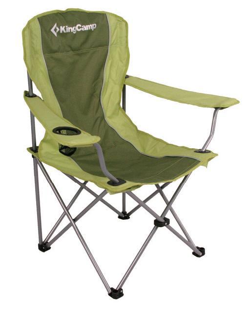 Кресло складное KingCamp Arms Chair In Steel, цвет: зеленый