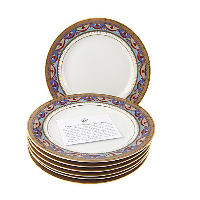 Комплект десертных тарелок Великая герцогиня. Японский фарфор, роспись, деколь. Фаберже, Франция, конец XX века