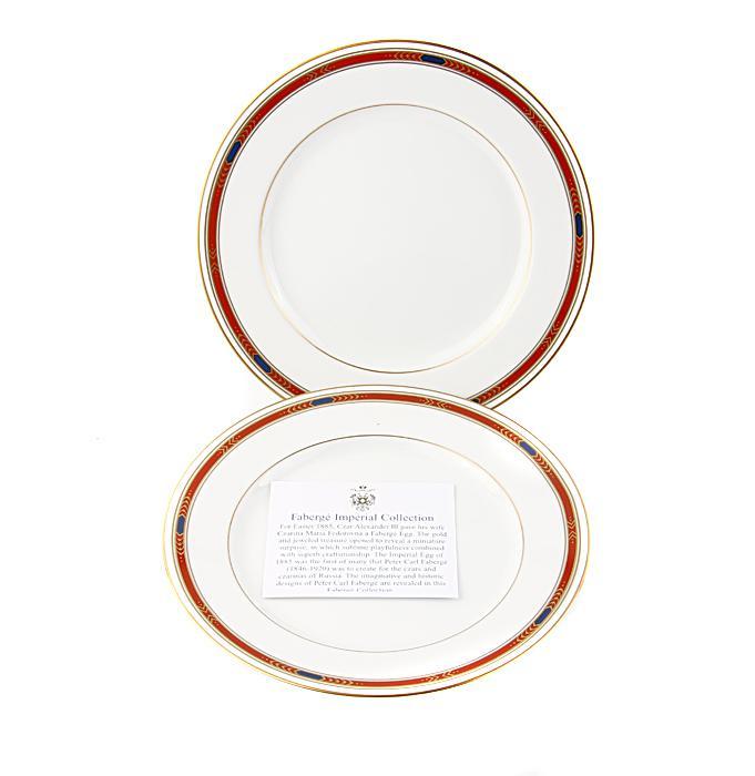 Десертные тарелки Монарх, комплект из двух. Японский фарфор, роспись, деколь. Фаберже, Франция, конец XX века