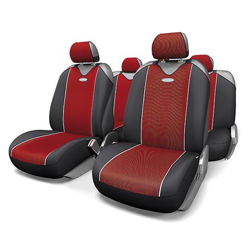 Чехлы-майки Autoprofi Carbon Plus, полиэстер под карбон, цвет: черный, красный, 9 предметов. CRB-902P BK/RDCRB-902P BK/RDМодель авточехлов-маек Autoprofi Carbon Plus, выполненных из полиэстера, отличается полностью закрытой нижней частью сидений, которая добавляет им практичности и износостойкости. При этом чехлы быстро и без усилий надеваются на кресла, не требуя демонтажа подголовников или подлокотников. Эластичный материал позволяет использовать чехлы на сиденьях любого типа. Визуально полиэстер изделий в точности повторяет переливающийся рисунок настоящего карбона и придает чехлам респектабельный вид. Для автомобиля, чей экстерьер или салон оснащены карбоновыми деталями, чехлы Autoprofi Carbon Plus являются наиболее гармоничным дополнением. Комплектация: - 1 сиденье заднего ряда, - 1 спинка заднего ряда, - 2 чехла переднего ряда, - 5 подголовников, - набор фиксирующих крючков. Особенности: Использование с любыми типами сидений Толщина поролона - 2 мм Полиэстер с рисунком карбон