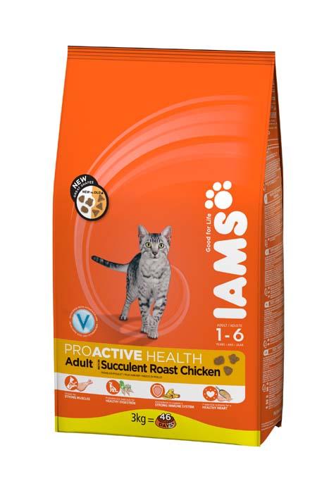 Корм сухой Iams Adult для взрослых кошек, с курицей, 300 г81055162Сухой корм Iams Adult является полноценным сбалансированным питанием для взрослых кошек возрастом от 1 до 7 лет с курицей. Не содержит искусственных красителей, консервантов и вкусовых добавок. Iams дает вашей кошке все необходимые питательные вещества для поддержания все 7 признаков здорового животного: - Хорошее пищеварение: особая смесь клетчатки, включая пребиотики и пульпу сахарной свеклы, поддерживает способность всасывания необходимых питательных веществ в пищеварительной системе вашей кошки. - Сильная иммунная система: корм обогащен антиоксидантами, которые способствуют поддержанию сильной иммунной системы. - Здоровые зубы: каждый раз при смыкании челюстей хрустящие гранулы корма очищают зубы вашей кошки, что уменьшает образование зубного камня, который может являться причиной зловонного дыхания. - Сильная мускулатура: высококачественный белок помогает поддерживать мышцы вашей кошки в тонусе. - Здоровая кожа и красивая шерсть: оптимальное...