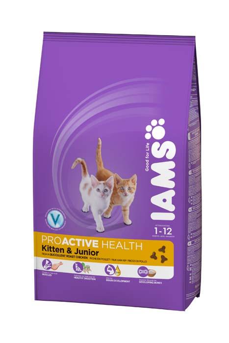 Корм сухой Iams Kitten для котят и кошек во время беременности и лактации, с курицей, 300 г81055166Сухой корм Iams Kitten является полноценным сбалансированным питанием для котят от 1 до 12 месяцев, беременных и лактирующих кошек. Не содержит искусственных красителей, консервантов и вкусовых добавок. Iams дает вашей кошке все необходимые питательные вещества для поддержания все 7 признаков здорового животного: - Хорошее пищеварение: пребиотики и пульпа сахарной свеклы поддерживают развитие пищеварительной системы вашего котенка. - Сильная иммунная система: корм обогащен антиоксидантами, которые способствуют поддержанию сильной иммунной системы. - Оптимальный рост: высококачественные белки способствуют росту и развитию сильной мускулатуры вашего котенка. - Здоровье кожи и шерсти: содержание Омега-6 и Омега-3 жирных кислот для здоровья кожи и блеска шерсти. - Отличное зрение: докозагексаеновая (DHA) кислота ряда Омега-3 способствует развитию органов зрения. - Способность к обучению: докозогексаеновая (DHA) кислота ряда Омега-3 способствует...