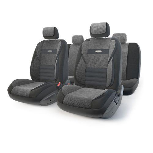 Набор ортопедических авточехлов Autoprofi Multi Comfort, велюр, цвет: черный, 11 предметов. Размер MMLT-1105 BK/BK (M)Инновационная модель анатомических чехлов Multi Comfort. Объемные вставки изделий, расположенные на уровне поясницы, бедер и плечевого пояса, хорошо поддерживают тело водителя и пассажира при маневрах на дороге. В чехлы также вшит ребристый поясничный упор. Его ортопедическая форма снимает нагрузку с межпозвоночных дисков и способствует снижению усталости от многочасового вождения. Кроме этого, чехлы на подголовники оснащены мягким выступом, который поддерживает голову и уменьшает давление на затылок. В качестве внешнего материала используется сочетание плотного и перфорированного велюра. Велюр обладает привлекательным внешним видом и хорошими вентиляционными свойствами, а также очень приятен на ощупь. Основные особенности авточехлов Multi Comfort: - поддержка плечевого пояса; - боковая поддержка спины; - боковая поддержка ног; - ортопедический поясничный упор; - мягкая вставка на подголовнике; - крепление передних...
