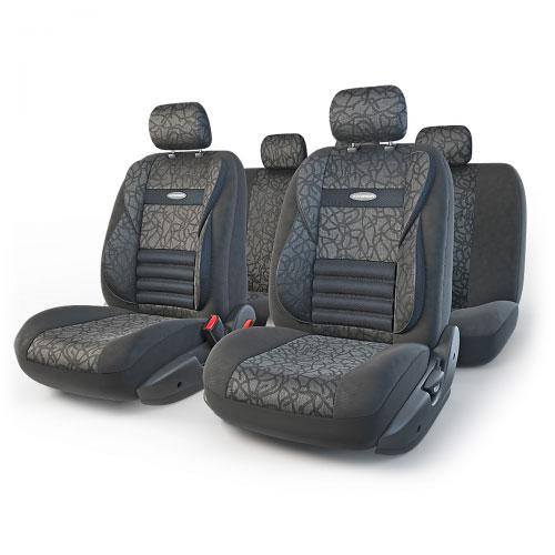 Набор ортопедических авточехлов Autoprofi Comfort Combo, жаккард, цвет: антрацит, 11 предметов. Размер M. CMB-1105 ANTHRACITE (M)CMB-1105 ANTHRACITE (M)Ортопедические авточехлы Comfort Combo обладают объемной формой, которая эффективно поддерживает тело человека во время движения. Усиленная поддержка плечевого пояса и объемные боковые вставки, расположенные на уровне поясницы, обеспечивают естественное положение спины, а поясничный упор ребристой формы снимает нагрузку с межпозвоночных дисков, способствуя снижению усталости от многочасового вождения. Чехлы Comfort Combo изготавливаются из плотного жаккарда. Эта привлекательная ткань сложного плетения обладает не только изысканным дизайном, но и высокой износостойкостью и дышащим эффектом. Основные особенности авточехлов Comfort Combo: - боковая поддержка спины; - 3 молнии в спинке заднего ряда; - 3 молнии в сиденье заднего ряда; - карманы в спинках передних сидений; - крепление передних спинок липучками; - ортопедический поясничный упор; - поддержка плечевого пояса; - предустановленные крючки на широких...