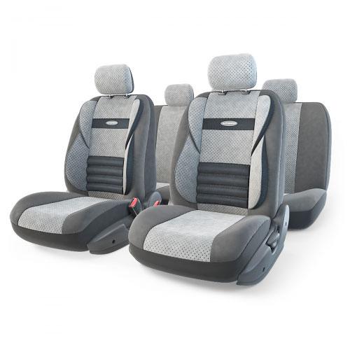 Набор ортопедических авточехлов Autoprofi Comfort Combo, велюр, цвет: темно-серый, светло-серый, 11 предметов. Размер M. CMB-1105 D.GY/L.GY (M)CMB-1105 D.GY/L.GY (M)Ортопедические авточехлы Comfort Combo оснащены усиленной поддержкой плечевого пояса, которая способствует естественному положению спины при вождении. Объемные боковые вставки чехлов на уровне поясницы поддерживают туловище в поворотах, а рифленый поясничный профиль обеспечивает естественную осанку и снижает нагрузку с межпозвоночных дисков. Чехлы Comfort Combo выполнены из формованного велюра, который сочетает привлекательный внешний вид и хорошие дышащие свойства, позволяющие водителю и пассажирам чувствовать себя комфортно во время движения. Основные особенности авточехлов Comfort Combo: - боковая поддержка спины; - 3 молнии в спинке заднего ряда; - 3 молнии в сиденье заднего ряда; - карманы в спинках передних сидений; - крепление передних спинок липучками; - ортопедический поясничный упор; - поддержка плечевого пояса; - предустановленные крючки на широких резинках; - использование с боковыми airbag; ...