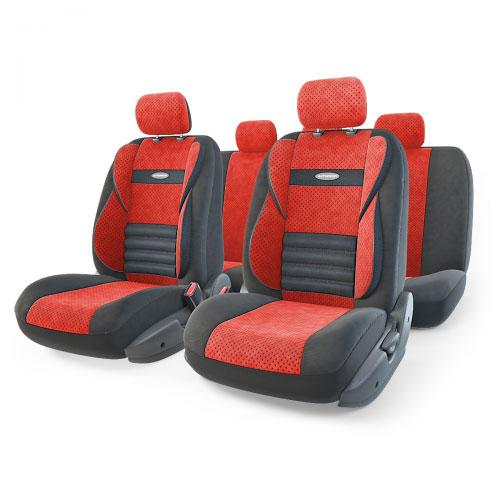 Набор ортопедических авточехлов Autoprofi Comfort Combo, велюр, цвет: черный, красный, 11 предметов. Размер M. CMB-1105 BK/RD (M)CMB-1105 BK/RD (M)Ортопедические авточехлы Comfort Combo оснащены усиленной поддержкой плечевого пояса, которая способствует естественному положению спины при вождении. Объемные боковые вставки чехлов на уровне поясницы поддерживают туловище в поворотах, а рифленый поясничный профиль обеспечивает естественную осанку и снижает нагрузку с межпозвоночных дисков. Чехлы Comfort Combo выполнены из формованного велюра, который сочетает привлекательный внешний вид и хорошие дышащие свойства, позволяющие водителю и пассажирам чувствовать себя комфортно во время движения. Основные особенности авточехлов Comfort Combo: - боковая поддержка спины; - 3 молнии в спинке заднего ряда; - 3 молнии в сиденье заднего ряда; - карманы в спинках передних сидений; - крепление передних спинок липучками; - ортопедический поясничный упор; - поддержка плечевого пояса; - предустановленные крючки на широких резинках; - использование с боковыми airbag; ...