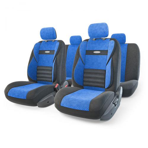 Набор ортопедических авточехлов Autoprofi Comfort Combo, велюр, цвет: черный, синий, 11 предметов. Размер M. CMB-1105 BK/BL (M)CMB-1105 BK/BL (M)Ортопедические авточехлы Comfort Combo оснащены усиленной поддержкой плечевого пояса, которая способствует естественному положению спины при вождении. Объемные боковые вставки чехлов на уровне поясницы поддерживают туловище в поворотах, а рифленый поясничный профиль обеспечивает естественную осанку и снижает нагрузку с межпозвоночных дисков. Чехлы Comfort Combo выполнены из формованного велюра, который сочетает привлекательный внешний вид и хорошие дышащие свойства, позволяющие водителю и пассажирам чувствовать себя комфортно во время движения. Основные особенности авточехлов Comfort Combo: - боковая поддержка спины; - 3 молнии в спинке заднего ряда; - 3 молнии в сиденье заднего ряда; - карманы в спинках передних сидений; - крепление передних спинок липучками; - ортопедический поясничный упор; - поддержка плечевого пояса; - предустановленные крючки на широких резинках; - использование с боковыми airbag; ...