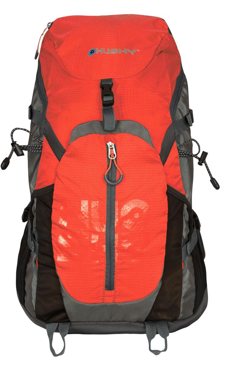 Рюкзак городской Husky Salmon 35L, цвет: оранжевыйУТ-000052241Рюкзак Husky Salmon 35L предназначен для прогулок и велоспорта. Он позволит вам взять с собой все необходимое. Рюкзак выполнен из прочного полиэстера и нейлона. Особенности: - Эргономичная вентилируемая система задней стенки - утолщенные и дышащие эргономичные плечевые лямки - боковой карман для фляги - нагрудный и поясной ремни - держатель для гидратора - компрессионные ремни - держатели для треккинговых палок и другой экипировки - светоотражающие элементы - накидка от дождя - боковые карманы-сетки - светоотражающие элементы Характеристики: Материал: полиэстер 420D Ripstop, полиэстер 600D, нейлон 420D W/P. Объем рюкзака: 35 л. Размер: 57 см х 33 см х 18 см. Вес: 1100 г. Цвет: оранжевый. Размер упаковки: 60 см х 36 см х 12 см. Артикул: УТ-000052241.
