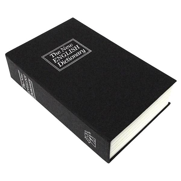 Сейф-книга The New English Dicionary, цвет: черный. 9479294792Сейф-книга The New English Dicionary предназначен для хранения денежных средств и ценностей. Вместительный оригинальный сейф, выполненный в виде книги, имеет картонную обложку черного цвета. Сейф оснащен встроенным металлическим замком с ключом. Вы можете поставить сейф-книгу на полку, и никто не различит его среди других книг. Вместительный и надежный он станет оригинальным подарком.