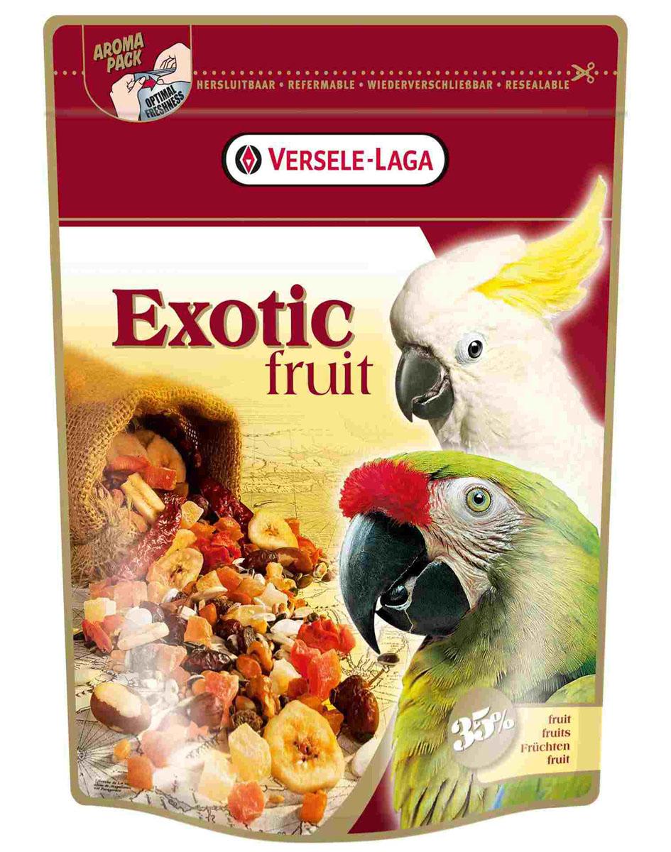 Корм для крупных попугаев Versele-Laga Exotic Fruit, 600 г421781Корм Versele-Laga Exotic Fruit — это любимый деликатес крупных попугаев. Они обожают много фруктов (папайю, ананас и абрикос), а также богатую смесь зерен и семян. Корм можно использовать как основное питание, либо как добавку к рациону. Состав: белки 11%, жиры 19%, сырая клетчатка 13%, сырая зола 3%, кальций 0,1%, фосфор 0,3%. Вес: 600 г. Товар сертифицирован.