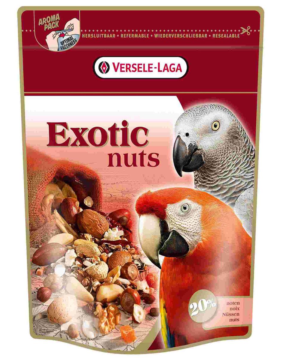 Корм для крупных попугаев Versele-Laga Exotic Nuts, 750 г421782Корм Versele-Laga Exotic Nuts — это любимый деликатес крупных попугаев. Они обожают цельные орехи (миндаль, грецкий орех, орех-пекан), а также богатую смесь зерен и семян. Используйте Versele-Laga Exotic Nuts как основной корм, либо как дополнение к другим смесям Versele-Laga. Состав: белки 13%, жиры 20%, сырая клетчатка 14%, сырая зола 3%, кальций 0,1%, фосфор 0,3%. Вес: 750 г. Товар сертифицирован.