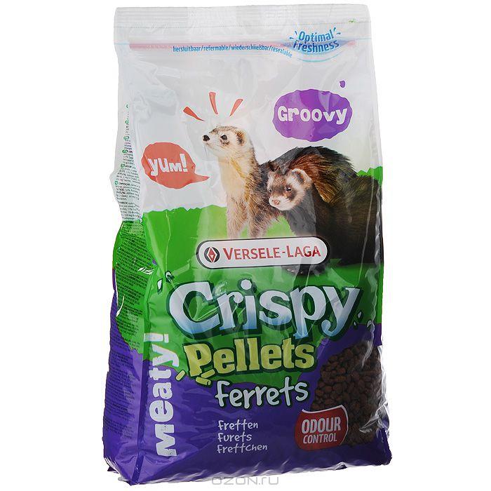 Корм гранулированный для хорьков Versele-Laga Crispy Pellets Ferrets, 700 г461510Вкусный и богатый протеинами корм Versele-Laga Crispy Pellets Rats & Mice для крыс и мышей - это полноценный корм в форме крупных гранул, богатых злаками, которые надолго займут вашего питомца. Формула корма поможет избежать выборочного питания у зверьков. Благодаря содержанию гранул Happy & Healthy корм имеет все необходимые нутриенты для долгой и здоровой жизни вашей крысы или мыши. Специальная форма гранул и повышенное содержание клетчатки поддержат здоровье зубов и кишечника, а экстракт юкки нейтрализует неприятный запах в клетке питомца. Состав: зерна, экстракт растительного протеина, субпродукты растительного происхождения, травы, семена, минералы, фруктоолигосахариды, экстракт юкки. Основной анализ: протеин 20%, жир 4%, клетчатка 5,5%, зола 6,5%, кальций 1,1%, фосфор 0,8%. Добавки: витамин A 17000 МЕ, витамин D3 2000 МЕ, витамин E 135 мг, витамин C 100 мг, железо 170 мг, йод 3,6 мг, медь 17 мг, марганец 128 мг, цинк 120...