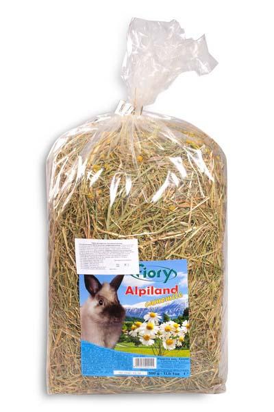 """Альпийское сено для грызунов Fiory """"Alpiland Camomile"""", с ромашкой, 500 г 06597"""