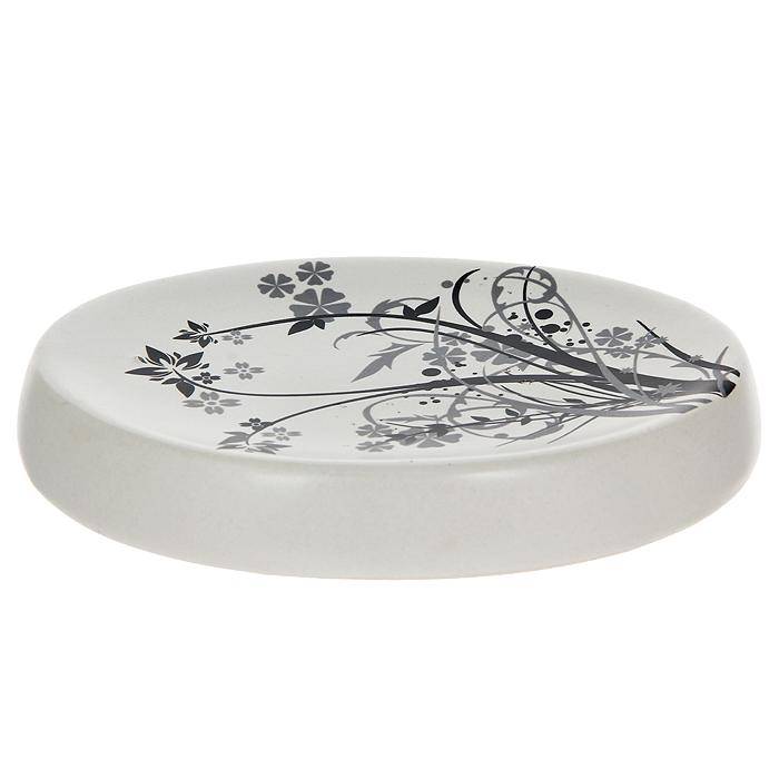 Мыльница Duschy Aster354-04Овальная мыльница Duschy Aster выполнена из керамики молочного цвета, украшена растительным рисунком черного цвета. Мыльница отличается легкостью и компактностью, при этом она устойчива, углубленная поверхность не позволит мылу скользить. Такая мыльница станет достойным дополнением интерьера ванной комнаты. Характеристики: Материал: керамика. Цвет: молочный. Размер мыльницы: 13,5 см х 9,5 см х 2 см. Размер упаковки: 14 см х 11 см х 3 см. Артикул: 354-04.