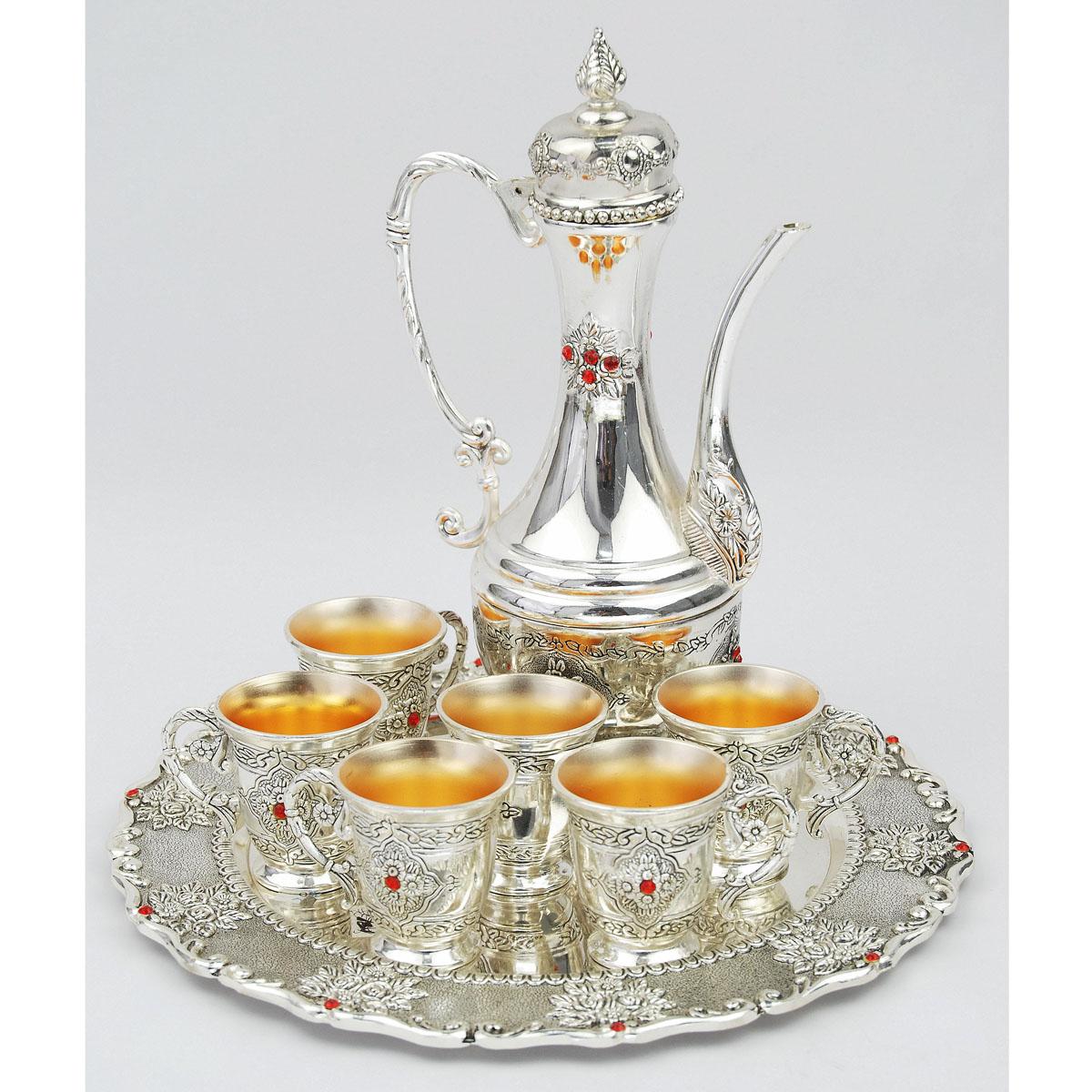 Набор чайный Marquis Рубины с золотом, 8 предметов