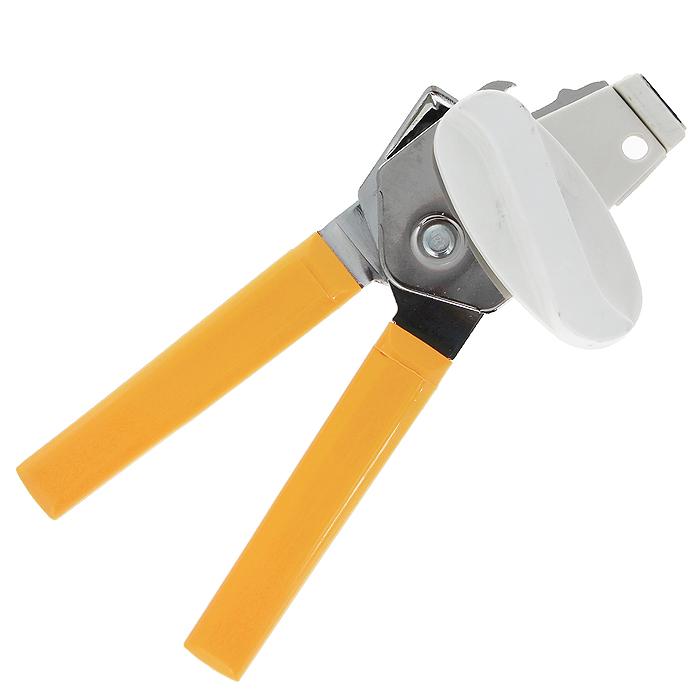 Консервный нож Metaltex, с магнитом26.11.09-513Консервный нож Metaltex, выполненный из высококачественной нержавеющей стали, займет достойное место среди аксессуаров на вашей кухне. С помощью этого удобного консервного ножа вы сможете без приложения усилий со своей стороны открыть любую жестяную консервную банку, а благодаря магниту достать крышку банки. Оригинальный дизайн и качество исполнения не оставят равнодушными ни тех, кто любит готовить, ни опытных профессионалов-поваров.