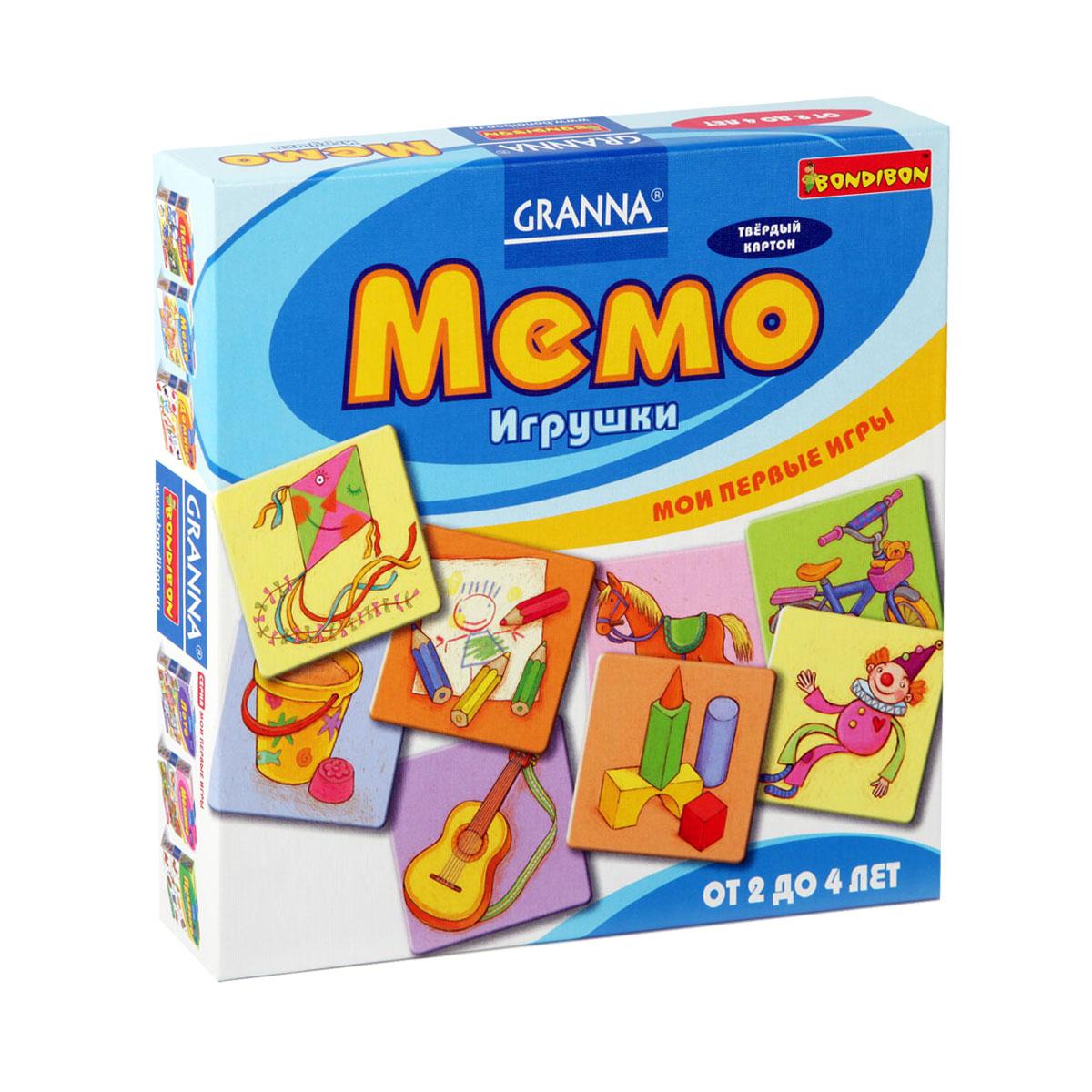 Мемо Bondibon ИгрушкиВВ1002Мемо Bondibon Игрушки позволит вам и вашему малышу весело и с пользой провести время, ведь совместная игра - лучший способ узнать ребенка. Правила Мемо очень просты и основаны на принципе подбора парных картинок. Положите все карточки на стол картинкой вниз. В свой ход вы переворачиваете две любые карточки и смотрите, совпадают ли их картинки. Если да, то вы забираете пару себе, если нет – возвращаете карточки на свое место лицом вниз. Важно не показывать переворачиваемые вами карточки другим игрокам. Игроки ходят поочередно, каждый раз забирая выигранные карточки себе. Секрет успеха в игре зависит от того, насколько хорошо игроки запоминают, где какая картинка лежит. Формально, побеждает тот, кто наберет наибольшее количество карточек, но на самом деле выигрывают все, потому что эта игра замечательно развивает зрительную память! В комплект входят 24 карточки с изображениями различных рисунков и правила игры на русском языке.