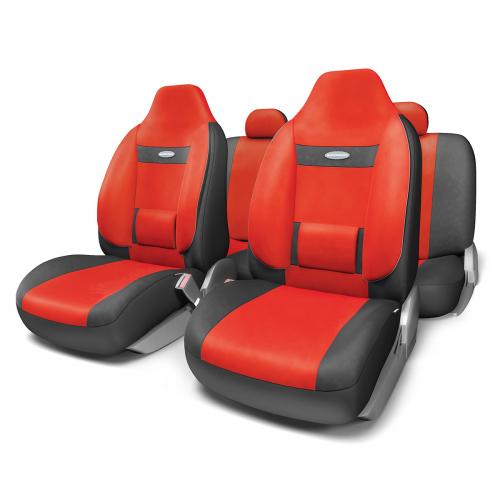Набор ортопедических авточехлов Autoprofi Comfort, для кресел с литыми подголовниками, велюр, цвет: черный, красный, 11 предметов. Размер MCOM-1105H BK/RD (M)Анатомическое авточехлы Comfort спроектированы специально для автомобильных кресел с литыми подголовниками. Встроенный поясничный упор и боковая поддержка спины чехлов придают передним креслам автомобиля эргономичную форму, за счет чего посадка водителя и пассажира становится более естественной и удобной. В качестве внешнего материала в чехлах Comfort используется жаропрочный велюр, который не электризуется и не выцветает на солнце. Основные особенности авточехлов Comfort: - боковая поддержка спины; - 3 молнии в спинке заднего ряда; - боковая поддержка спины; - карманы в спинках передних сидений; - крепление передних спинок липучками; - литые подголовники; - поясничный упор; - предустановленные крючки на широких резинках; - использование с боковыми airbag; - толщина поролона: 5 мм. Комплектация: - 1 сиденье заднего ряда; - 1 спинка заднего ряда; - 2 сиденья переднего...