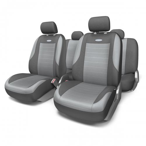 Набор авточехлов Autoprofi Evolution, велюр, цвет: темно-серый, светло-серый, 11 предметов. Размер MEVO-1105 D.GY/L.GY (M)Классическая модель авточехлов Evolution выполнена в спортивном стиле, придающем салону автомобиля яркие и динамичные черты. Велюр, из которого изготавливаются чехлы, очень приятен на ощупь и обладает высокой износостойкостью. Материал не выцветает на солнце, не электризуется и имеет высокие грязеотталкивающие свойства. Велюр триплирован 5-миллиметровым слоем поролона, который помогает чехлам сохранять свою форму на протяжении всего срока службы. Благодаря триплированию чехлы плотно облегают сиденья, не скользят по их поверхности и не мнутся. Основные особенности авточехлов Evolution: - 3 молнии в спинке заднего ряда; - карманы в спинках передних сидений; - толщина поролона: 5 мм. Комплектация: - 1 сиденье заднего ряда; - 1 спинка заднего ряда; - 2 сиденья переднего ряда; - 2 спинки переднего ряда; - 5 подголовников; - набор фиксирующих крючков.