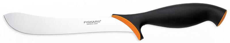 Нож для мяса Fiskars, 17 см857107Данный нож Fiskars разработан специально для обработки мяса. Он изготовлен из нержавеющей стали. Изогнутая форма клинка гарантирует максимально эффективную обработку и разделку мяса. Мягкое покрытие Softouch на ручке обеспечивает удобную и безопасную работу. Можно мыть в посудомоечной машине.