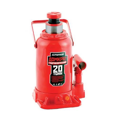"""Домкрат гидравлический """"Автопрофи / Autoprofi"""", бутылочный, 20 т, высота подъема 440 мм, 1/2"""