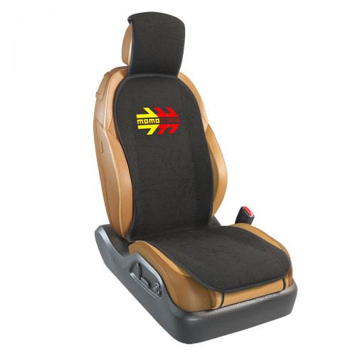 Накидка на переднее сиденье Momo Momo Corse, полиэстер, цвет: черный. MOMO-104 BKMOMO-104 BKНакидка на переднее сиденье Momo Momo Corse изготовлена из высококачественного морозостойкого полиэстера и надежно защищает кресла от грязи и изнашивания. Благодаря универсальному крою накидку можно использовать на передних сиденьях большинства автомобилей, в том числе оснащенных боковыми подушками безопасности. Установка не занимает много времени - накидка крепится с помощью эластичных резинок и закрывает не только спинку и сиденье, но и подголовник кресла. Имеется возможность использования с любыми типами сидений. Яркий и оригинальный дизайн изделия придает салону автомобиля динамичные и запоминающиеся черты.