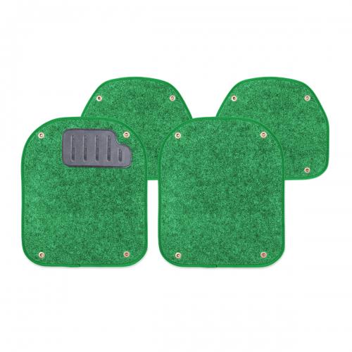 Вкладыши ковролиновые Autoprofi для автомобильных ковриков, цвет: зеленый, 4 штPET-500i GRКомплект Autoprofi состоит из 2 вкладышей в автомобильные коврики переднего ряда и 2 вкладышей в автомобильные коврики заднего ряда. Вкладыши изготовлены из уютного и износостойкого ковролина. Они легко пристегиваются и снимаются. Надежное крепление гарантируют четыре металлические кнопки. Имеется опора для ног водителя из термопласта, которая обеспечивает комфортное управление автомобилем. Вкладыши устойчивы к влаге, грязи и УФ-лучам. Характеристики: Материал: ковролин, термопласт. Цвет: зеленый. Размер вкладыша для ковриков переднего ряда: 40 см х 47 см. Размер вкладыша для ковриков заднего ряда: 40 см х 35 см. Артикул: PET-500i GR.