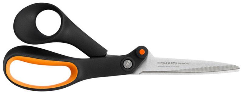 Ножницы с зазубренным лезвием для тяжелой работы Fiskars, 21 см879158Ножницы общего назначения с зазубренным лезвием для работы с жёсткими и скользкими материалами. Изготовлены из высококачественной нержавеющей стали. Механизм ServoCut удваивает производительность ножниц. Можно мыть в посудомоечной машине.
