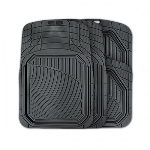 Коврики автомобильные Autoprofi Defender, универсальные, морозостойкие, цвет: черный, 4 предметаTER-515 BKКоврики Autoprofi Defender изготовлены из термопласта-эластомера, который характеризуется небольшим весом, отсутствием типичного для резины запаха и высокой износостойкостью. Данный материал сохраняет свою эластичность даже при экстремально низких температурах до -50°С и устойчив воздействию агрессивных веществ, таких как масло, топливо или дорожные реагенты. Специальный рисунок ковриков позволяет использовать их в большинстве современных легковых автомобилей. Разветвленная сеть насечек для разреза на поверхности помогает придать коврикам форму, точно соответствующую днищу салона. Благодаря этому и высоким фрикционным качествам материала коврики не скользят под ногами и плотно лежат на поверхности пола, защищая его от грязи и влаги. Характеристики: Материал: термопласт-эластомер. Цвет: черный. Комплектация: 4 шт. Температура использования ковриков: от -50°С до +50°С. Размер переднего коврика: 74 см х 52 см. Размер заднего коврика: 45,5 см х...