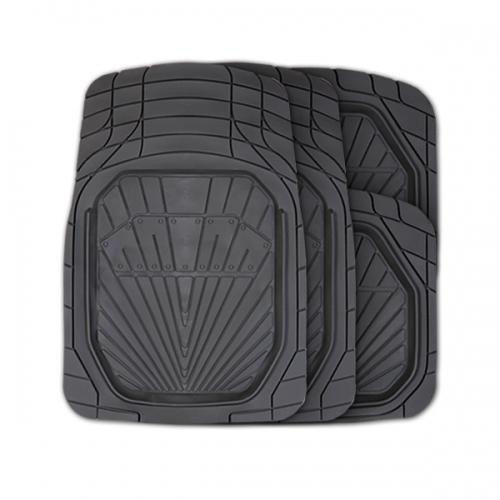 Коврики автомобильные Autoprofi Power, универсальные, вырезаемые, цвет: черный, 4 предметаTER-510 BKУниверсальные автомобильные коврики Autoprofi Power изготовлены из термопласта-эластомера с высокими фрикционными качествами, благодаря чему изделия не скользят под ногами и плотно лежат на поверхности пола, защищая его от грязи и влаги. Термопласт-эластомер отличается небольшим весом, отсутствием характерного для резины запаха и высокой износостойкостью. Материал сохраняет свою эластичность даже при экстремально низких температурах до -50°С и устойчив к воздействию агрессивных веществ, таких как масло, топливо или дорожные реагенты. Комплект ковриков можно использовать в большинстве современных легковых автомобилей. Широкая универсальность обусловлена специальным рисунком ковриков-трансформов. На их поверхности имеется разветвленная сеть насечек для разреза, которая позволяет придать коврикам форму, точно соответствующую днищу салона. Характеристики: Материал: термопласт-эластомер. Цвет: черный. Комплектация: 4 шт. Температура использования: от...